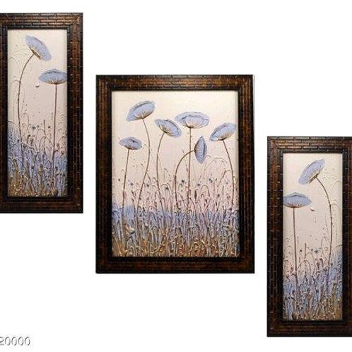 Beautiful 3 Piece Set of Flowers Paintings