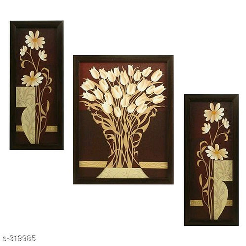 Beautiful 3 Piece Set of Flowers Paintings