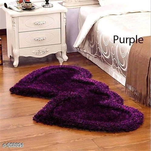 Attractive Heart Shaped Polyester Solid Carpet Runners Vol 1