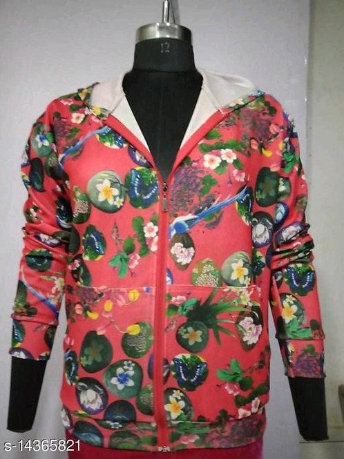 Carrel Women's Lycra Printed Hoodie