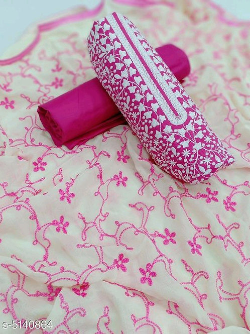 Attractive Embroidered Cotton suit