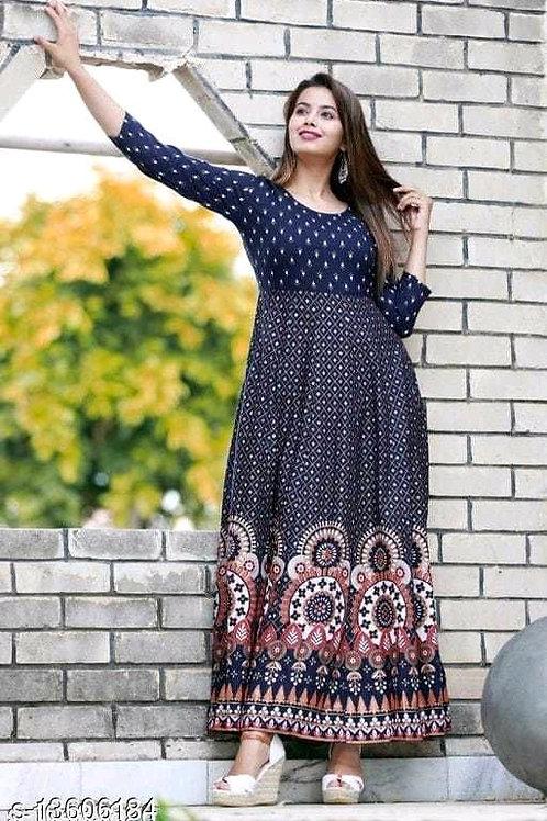 Blue Stylish Designer Women's Gown