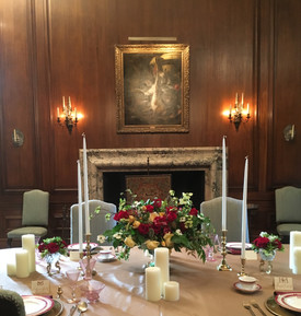 Filoli's Flower Show Tablescape