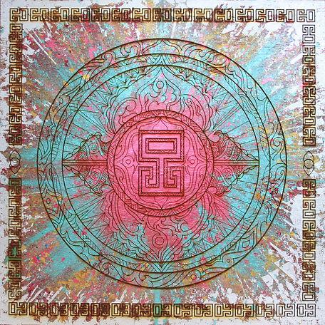 Silver Leaf Mandala pattern