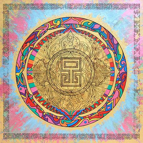 Colourful Spiritual Mandala by Eccentric o