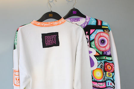 Eccentric O Airbrush Customised Sweatshirt