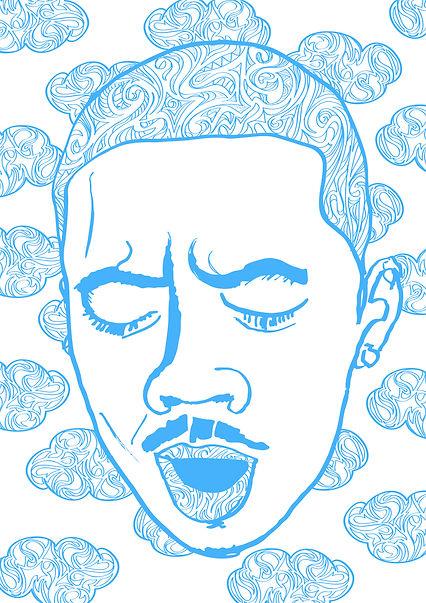 Digital pattern portrait illustration