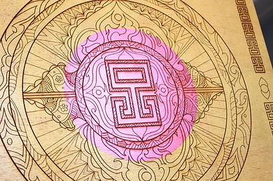 Gold Lead Mandala Eccentric O 3