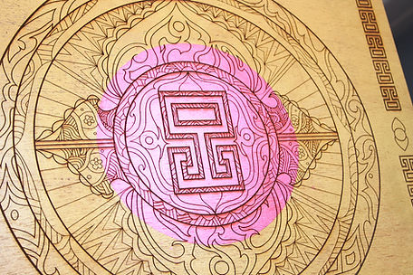 24ct Gola Leaf Mandala