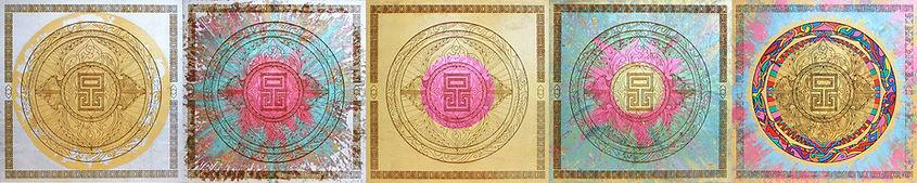 Gold Lead Mandala Eccentric O 4