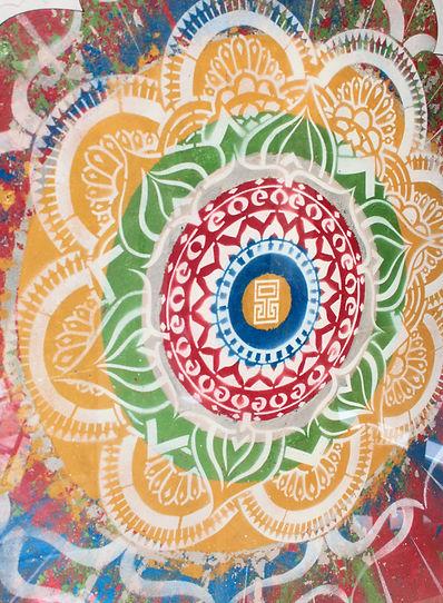 Indian Holi Mandala