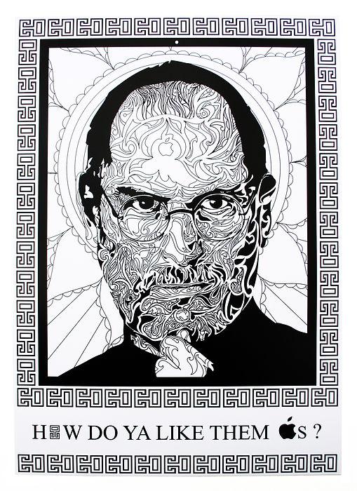 Steve Jobs Artwork Digital Portrait