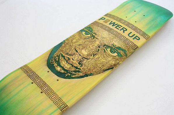 Laser Engraved Skateboard Portrait of Usain Bolt