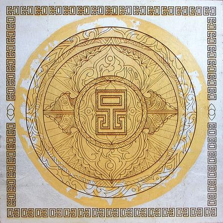 24ct Gold Lead Mandala
