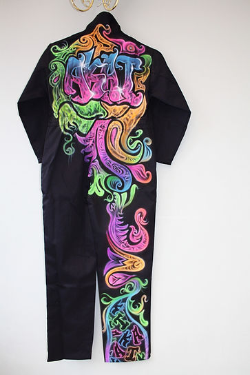 airbrush graffiti spray textile art