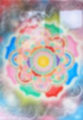 Photoluminscent glow Mandala visionary art