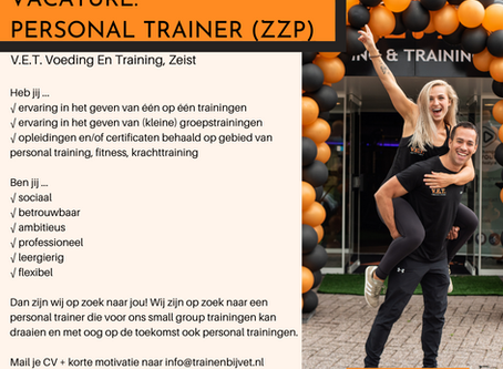 VACATURE PERSONAL TRAINER