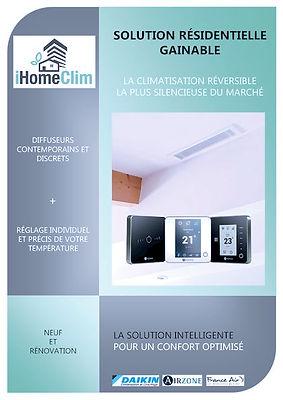 Solution résidentielle climatisation Gainable à Aix en Provence et Toulon