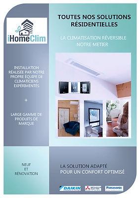 Toutes nos Solutions Résidentielles en climatisation à Aix en Provence et Toulon