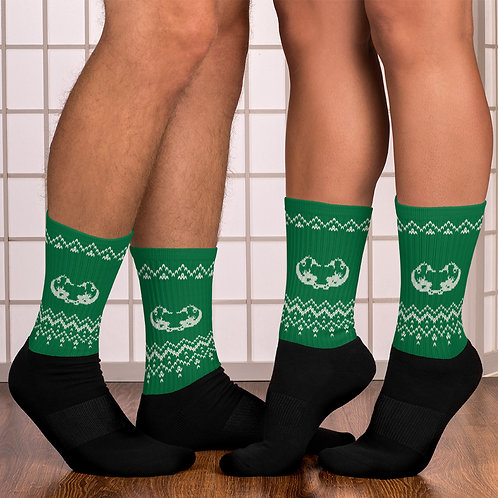 Xmas knitted edition Odycea Studios green Socks copy