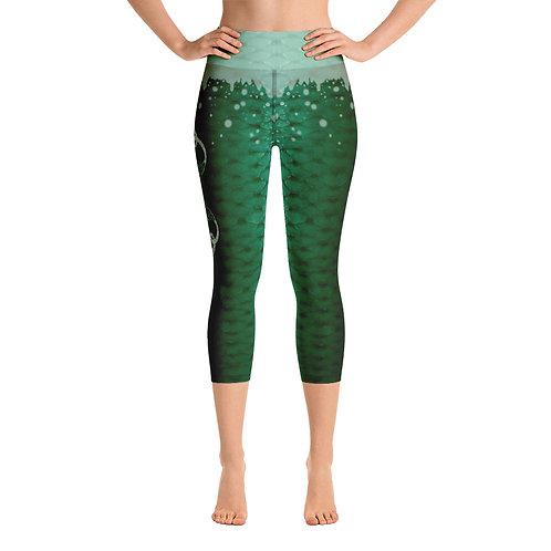 Xmas edition Odycea Studios green Yoga Capri Leggings