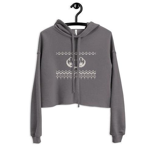 Xmas knitted edition Odycea Studios Crop Hoodie