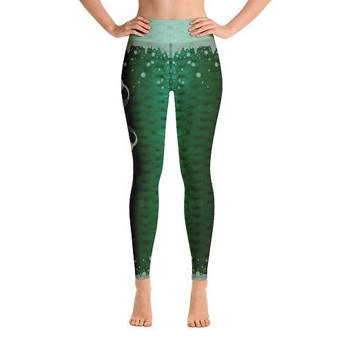 Xmas edition Odycea studios - Green Yoga Leggings