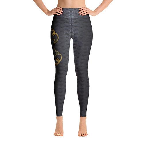 Odycea Dark Scales - Ladies' Yoga Leggings