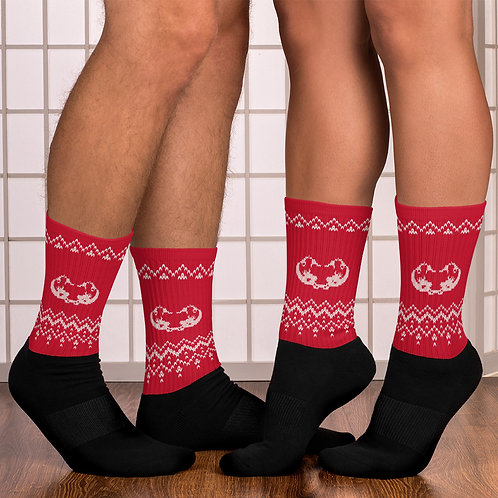 Xmas knitted edition Odycea Studios red Socks