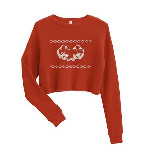 Xmas knitted edition Odycea Studios Crop Sweatshirt