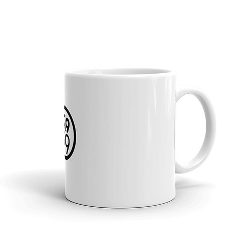 White glossy 5959 Logo mug