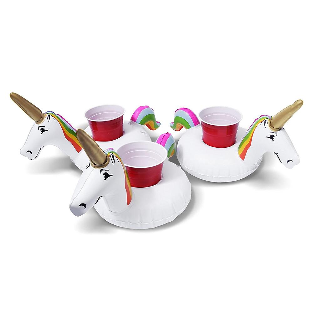 Inflatable Unicorn Drink Holder, unicorn lover, unicorn gift, unicorn gift guides, unicorn pool party, unicorn pool drink holder, pool drink holder, pool drink float