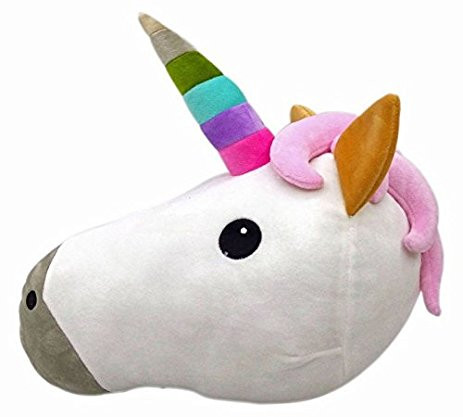 unicorn throw pillow, unicorn lover, unicorn gift, unicorn gift guide, unicorn decor, unicorn home decor, unicorn pillow, emoji pillow, unicorn toy, unicorn plush pillow