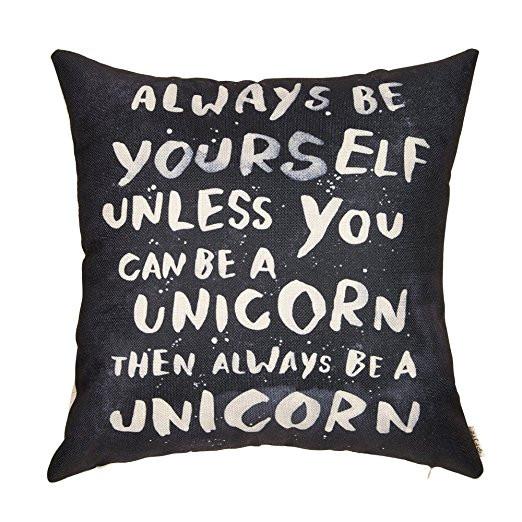 be a unicorn, unicorn pillow case, unicorn throw pillow case, unicorn pillow, im a unicorn, unicorn lover, unicorn gift, unicorn gift guide, unicorn decor, unicorn home decor