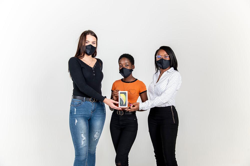 Zoe Konings, Niita Shikongo and Rejoice Amutenya