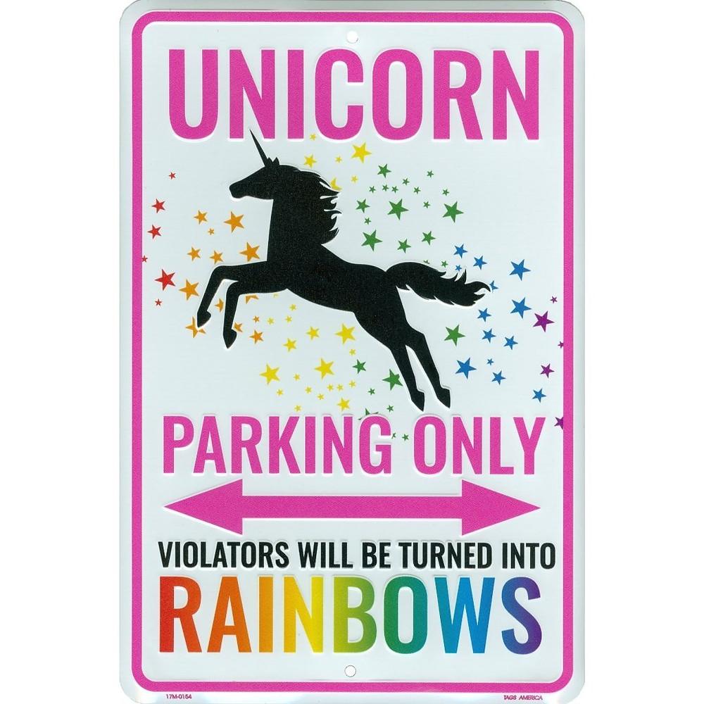 Unicorn Parking Only Sign, unicorn sign, unicorn parking sign, unicorn lover, unicorn gift, unicorn gift guide, unicorn wall art sign, unicorn metal sign