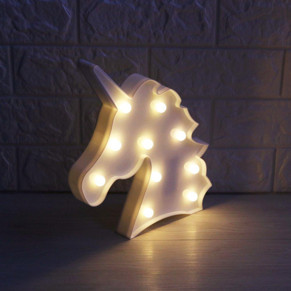 unicorn night light, white unicorn, unicorn gift guide, night light, unicorn, unicorn lover, unicorn gift guide, unicorn gift, unicorn marquee, unicorn LED light