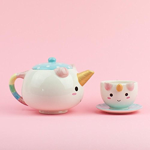 Unicorn Tea Set, unicorn teapot, unicorn cup, unicorn saucer, unicorn, unicorns, unicorn Drinkware, Hand Painted tea set, unicorns, unicorn, kitchen utensils, unicorn gift guide, unicorn kitchen supplies, unicorns, unicorn lover, unicorn gift