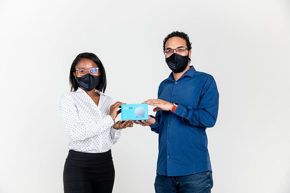 Niita Shikongo and Mark Muller