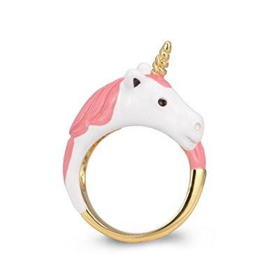 18k gold ring, pink unicorn ring, pink unicorn, unicorn, unicorns, unicorn ring, gold unicorn ring, unicorn jewelry, unicorn lover, unicorn gift, unicorn gift guide