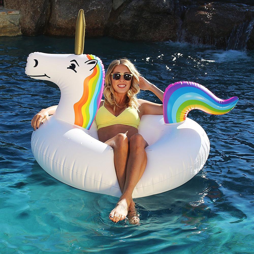 Inflatable Unicorn float, unicorn lover, unicorn gift, unicorn gift guides, unicorn pool party, unicorn pool float, pool float, pool party float, unicorn float
