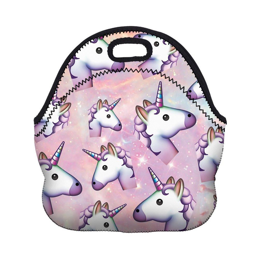 unicorn lunch bag, unicorn lunch tote, Neoprene Lunch Bag, Neoprene Lunch Tote, unicorn lovers, unicorn, unicorns, unicorn gift guide, unicorn lunchbox, unicorn gift, unicorn emoji