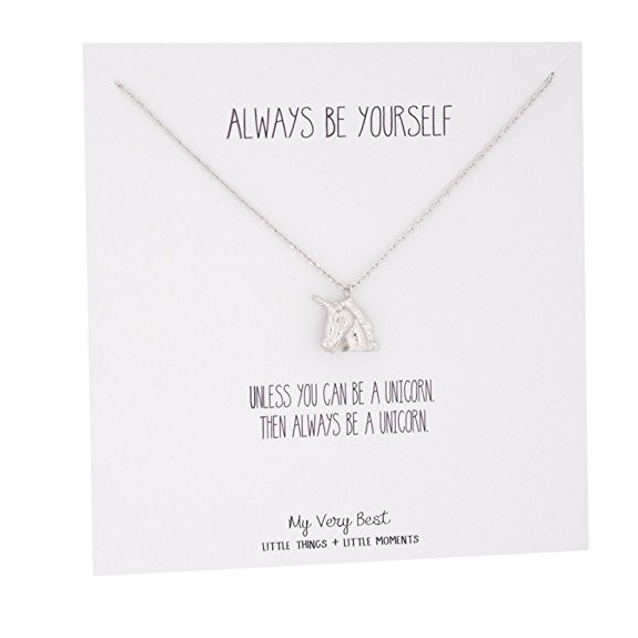 silver unicorn necklace, unicorn necklace, silver necklace, always be yourself, unicorn jewelry, unicorn charm, unicorn, unicorns, unicorn lover, unicorn gift, unicorn gift guide