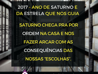 2017 - Ano de Saturno e da Estrela que nos Guia