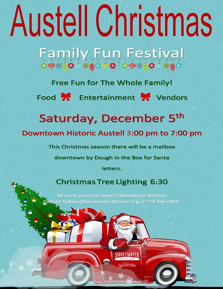 2020 Austell Christmas Festival Flyer (5