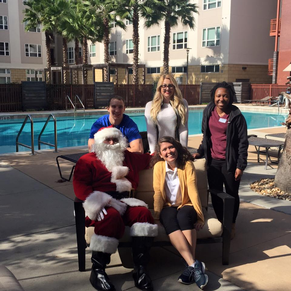 Continuum staff with Santa