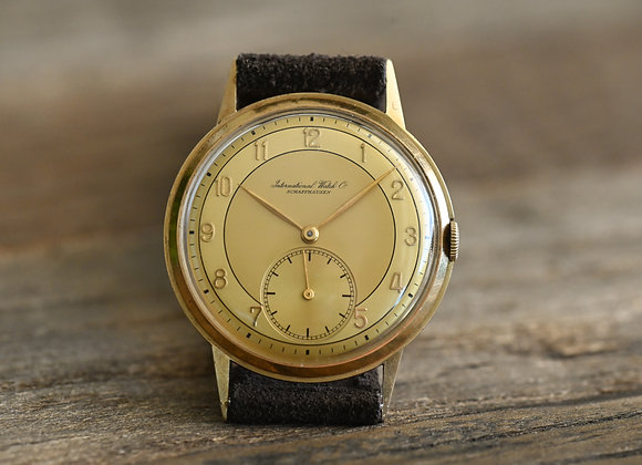 IWC 14k Gold Two Tone 'Lemon' Dial Cal. 83 Circa 1941
