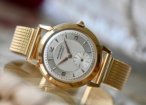 Vintage Movado Dress Watch 18k Gold 1950's