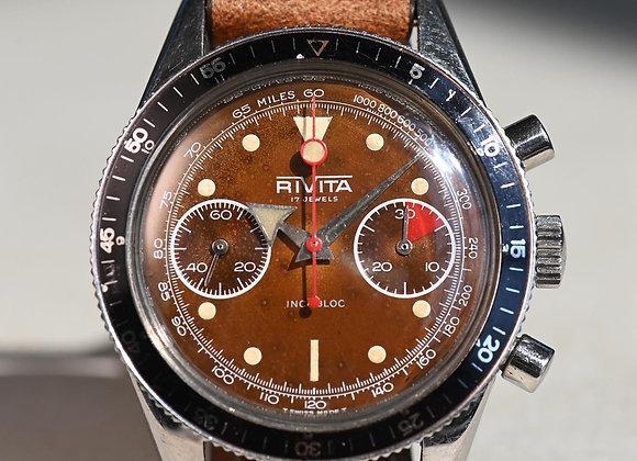 Rivita Valjoux 7733 Chronograph Tropical Dial 1960s
