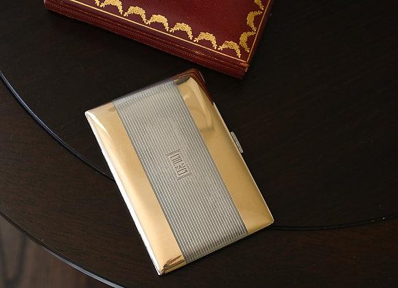 Deco Era Cartier Sterling & 14k Cigarette Case / Wallet with Original Box